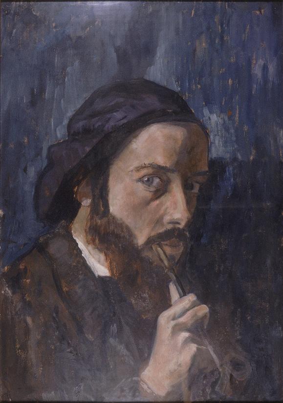 Autoportait, huile sur carton, 1909.