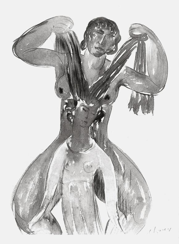 Vers 1909, plume aquarelle et encre de chine. Collection particulière.